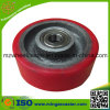 Rotes Hochleistungs-PU-Fußrollen-Rad