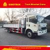 Tonne Ton/10 de Sinotruk HOWO 8 grue montée par camion de 12 tonnes
