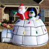 Camera della tenda del pupazzo di neve di Inflatables Santa di natale