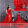 Платье вечера 2013 цветка нового максимума конструкции секса Split красное Handmade (b-475)