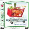 Chariot en plastique à achats de main de caddie de supermarché