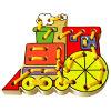 Het houten het Rijgen Stuk speelgoed van de Trein voor Baby (80162)
