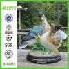 Resin vif maison et jardin Double Wild Ducks Sculpture (NF86040)