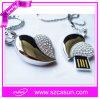 熱い販売法の新型の宝石類Cordiform USBのフラッシュ駆動機構