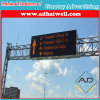 Quadro de avisos transversal do sinal da tela do diodo emissor de luz do tráfego de estrada do pórtico