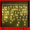 クリスマスの暖かく白い屋外の装飾LEDのつららストリングライト