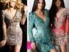 2014 robe en cristal nue sexy de luxe de l'usager Dress/Evening