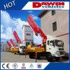 Selling chaud 21m 25m 28m Concrete Pump Truck