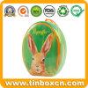 Caja de la lata de Pascua para el embalaje del estaño del regalo, caja de regalo del metal