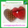 Rectángulo de papel impreso aduana en forma de corazón del rectángulo de regalo del chocolate