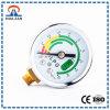 Diferencia de la presión del instrumento de la medida en la función del piezómetro y del manómetro