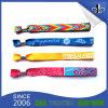 Kundenspezifisches Polyester-Festivalwristbands-Gewebe gesponnene Armbänder