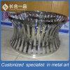 Fabrik-Fertigung-Silber-runde Edelstahl-Tisch-Möbel