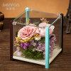 Contenitore di regalo reale naturale del fiore di 100% Rosa per il regalo di compleanno del biglietto di S. Valentino