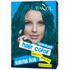 cor provisória do cabelo do uso da casa 7g*2 com cor roxa
