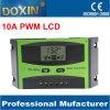 PWM Auto для регулятора обязанности системы Home Solar с экраном 10A 12/24V LCD