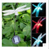 Lâmpada solar do gramado da jarda do diodo emissor de luz da luz da decoração da libélula da estaca do jardim