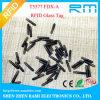 Tag de vidro de 1.4X8mm RFID para a gerência animal (NFC/EM4305/Icode II)