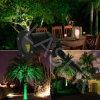 Demostración verde de la luz laser, indicadores del laser, luz del jardín