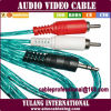Transparante 2RCA aan 3.5 Stereo Audio Line/Wire/Lead/Cord/Cable