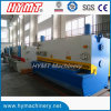 QC11Y-12X3200 guillotina hidráulica Cizalla, planchas de acero al corte de la máquina