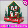 Spieluhr 2015 USA-Interesting Warm House Wood Chirstmas, Highquality Wooden Christmas Music Toy mit einem House Structure W07b005b