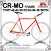 Следа оправы Cr-Mo Bike шестерни глубокого v фикчированный (KB-700C06)