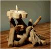 牧歌的で創造的なギフトの花の蝋燭の装飾デザイン柔らかい木は装飾を制作する