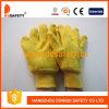Goldenes Aufgabe-Vlies gezeichnete warme Arbeits-Handschuhe Dcd105