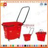 Panier à provisions en plastique de supermarché bon marché des prix avec les chasses (Zhb26)