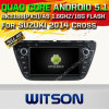 Carro DVD GPS do Android 5.1 de Witson para a cruz de Suzuki 2014 com sustentação do Internet DVR da ROM WiFi 3G do chipset 1080P 16g (A5536)