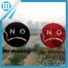 Etiqueta engomada gritadora de no fumadores de la ventana de la cara de las etiquetas raras