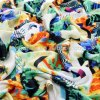 Silk pur Digital Printed Silk Satin Fabric pour Dress
