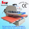 Bottom 압축 공기를 넣은 Glide Double Station Heat Press Machine 40*50cm Pneumatic Double Station T-Shirt Heat Transfer Printing Machine Stc Qd07