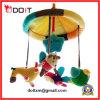 Brinquedo macio musical do jogo do carrinho de criança do chocalho do bebê do luxuoso do divertimento