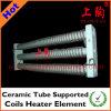 O tubo cerâmico suportou o elemento do calefator de bobinas