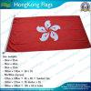 le drapeau de 180X90cm Hong Kong, 160GSM a tourné le drapeau de polyester