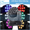 CREE LED Beam Wash Moving Head Club Light (CY-LMH-12) de 12X10W RGBW