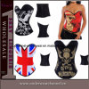 Mujeres Sexy Lingerie Fancy Skull Printed Corset (TW2269)