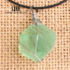Wax Rope Necklace를 가진 자연적인 Raw Fluorite Stone Pendants