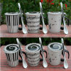 nuova tazza di caffè di ceramica bianca nera del musicista 11oz