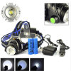 높은 Quality 3 Mode Xml-T6 Waterproof 2000년 Lumen LED Rechargeable Headlamp Headlight Head Lamp (568D)