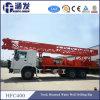 트럭에 의하여 거치되는 토양과 바위 드릴링 기계 (HFC400)