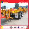Châssis de chantier de conteneur de remorque de terminal avec 40-60ton Capacité