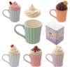 Caneca de café personalizada cerâmica barata do copo de chá com forma do bolo
