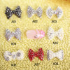 100PCS Nail Art Decoration 3D Metal Alloy Sticker Jewelry Colorful Shiny Bow