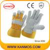 De gele Volledige Handschoenen van het Werk van het Leer van de Zweep van de Bedrijfsveiligheid van de Palm Gespleten (110091)