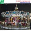 Schöne fröhliche gehen Umlauf-Karussell mit LED beleuchtet (carousel-015)