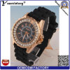 Fábrica promocional de la venta al por mayor del reloj de Ginebra del regalo de los relojes de señoras del deporte del reloj de señoras del silicón del diamante de la manera Yxl-164