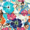 Tela feita malha urdidura impressa floral da forma 80%Nylon 20%Spandex para o Swimwear das senhoras